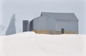 1 - Barn in Ice Fog